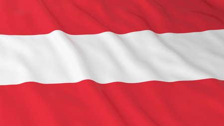 crinkled: Austrian Flag HD Background - Flag of Austria 3D Illustration