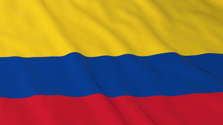 colombian flag: Colombian Flag HD Background - Flag of Colombia 3D Illustration Stock Photo