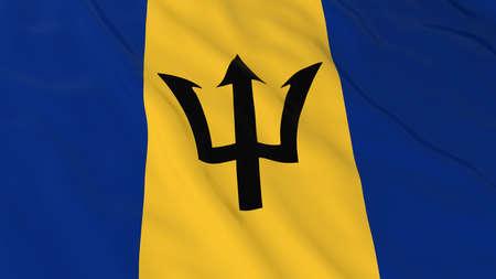 barbadian: Barbadian Flag HD Background - Flag of Barbados 3D Illustration