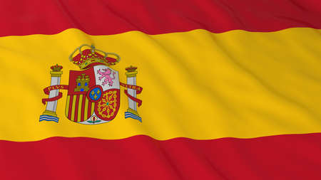spanish flag: Spanish Flag HD Background - Flag of Spain 3D Illustration Stock Photo