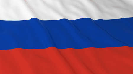 russian flag: Russian Flag HD Background - Flag of Russia 3D Illustration Stock Photo