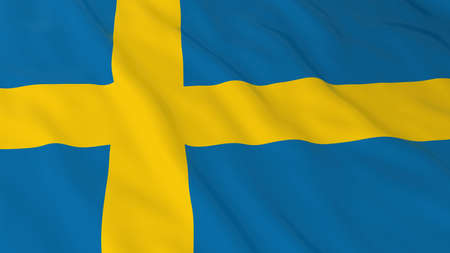 swedish: Swedish Flag HD Background - Flag of Sweden 3D Illustration