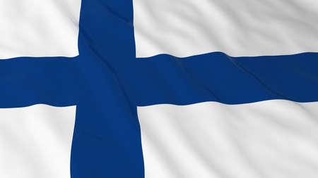 finnish: Finnish Flag HD Background - Flag of Finland 3D Illustration