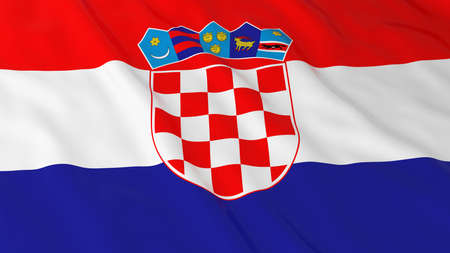 croatian: Croatian Flag HD Background - Flag of Croatia 3D Illustration Stock Photo