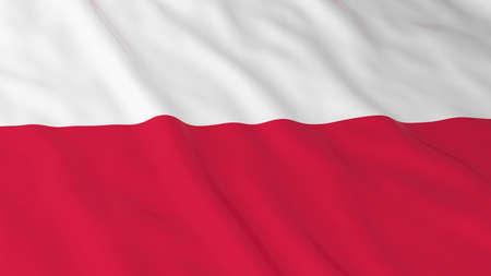 polish flag: Polish Flag HD Background - Flag of Poland 3D Illustration Stock Photo