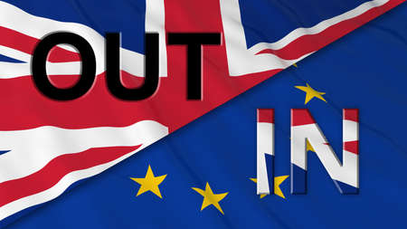 Brexit - Britain in or out of the EU - 3D Illustration
