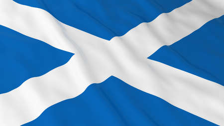 scottish flag: Bandiera scozzese HD Background - Bandiera della illustrazione 3D Scozia