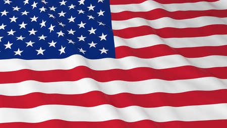 Drapeau américain HD Fond - Drapeau de l'Illustration USA 3D Banque d'images - 57897570