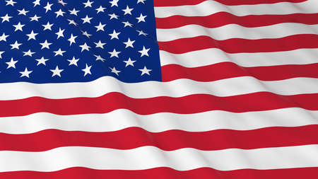 American Flag HD Background - Flag of the USA 3D Illustration Stock Photo