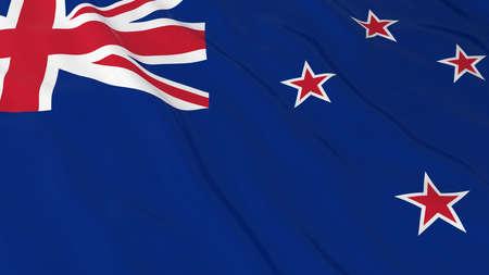 new zealand flag: New Zealand Flag HD Background - Flag of New Zealand 3D Illustration Stock Photo