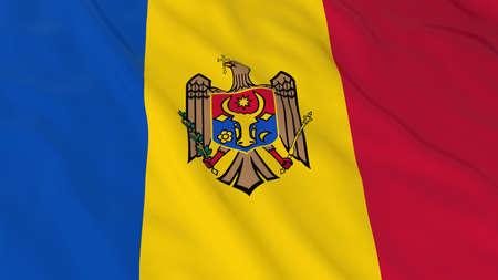 moldovan: Flag of Moldova 3D Illustration