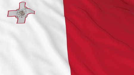 malta: Flag of Malta 3D Illustration