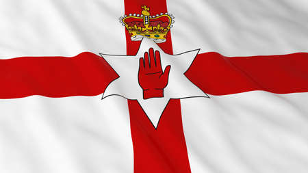 ulster: Ulster Flag of Northern Ireland 3D Illustration Stock Photo