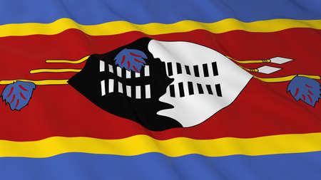 swaziland: Flag of Swaziland 3D Illustration