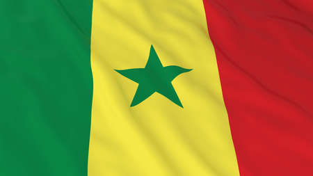 senegal: Flag of Senegal 3D Illustration