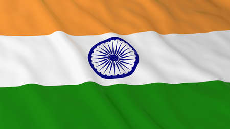 india 3d: Flag of India 3D Illustration