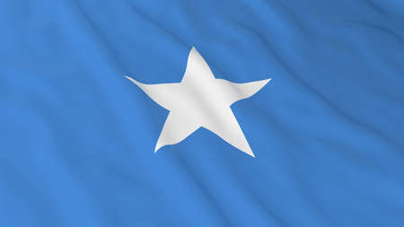 somalia: Flag of Somalia 3D Illustration