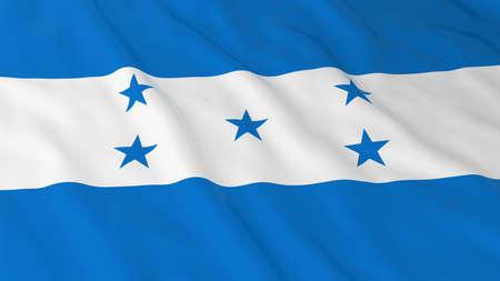 honduras: Flag of Honduras 3D Illustration