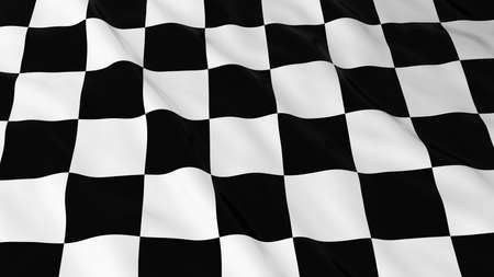 finishing line: Finishing Line Flag 3D Illustration
