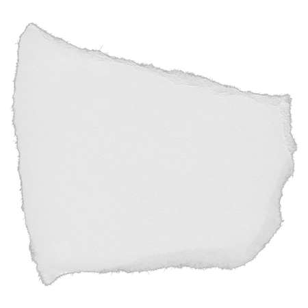 scan paper: Torn White Paper Scrap Isolated on White Background