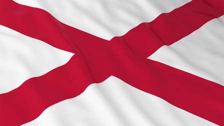 northern ireland: Flag of Northern Ireland 3D Illustration