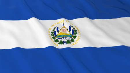 el salvador: Flag of El Salvador 3D Illustration