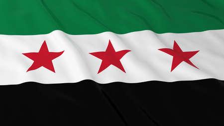 Syria: Flag of Syria 3D Illustration