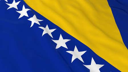 bosnia and herzegovina flag: Flag of Bosnia Herzegovina 3D Illustration