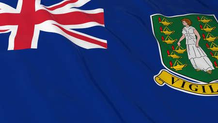 virgin islands: British Virgin Island Flag HD Background - Flag of the Virgin Islands 3D Illustration Stock Photo