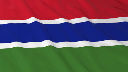 gambia: Flag of Gambia 3D Illustration