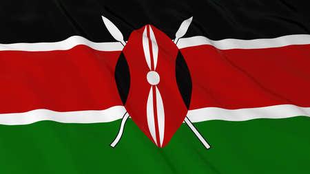 kenya: Flag of Kenya 3D Illustration