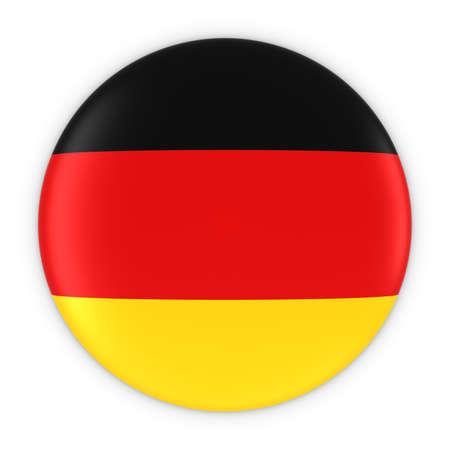german flag: German Flag Button - Flag of Germany Badge 3D Illustration
