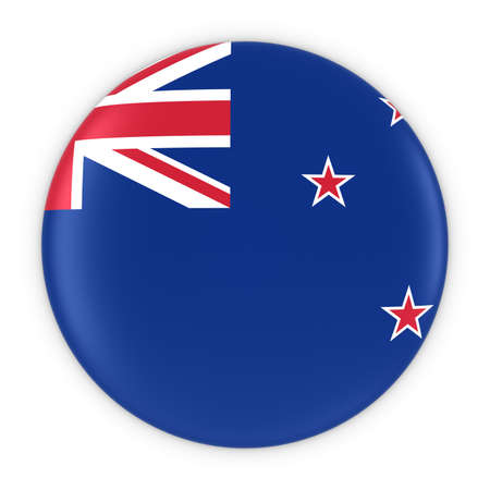 bandera de nueva zelanda: New Zealand Flag Button - Flag of Wales New Zealand 3D Illustration