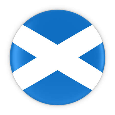 scottish flag: Scottish Flag Button - Bandiera della illustrazione Scozia Badge 3D