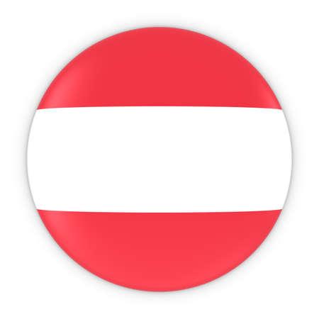 austrian: Austrian Flag Button - Flag of Austria Badge 3D Illustration