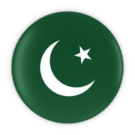 pakistani pakistan: Pakistani Flag Button - Flag of Pakistan Badge 3D Illustration Stock Photo