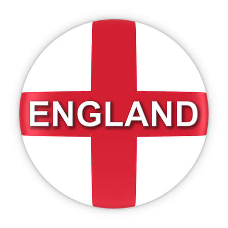 text 3d: English Flag Button with England Text 3D Illustration Stock Photo