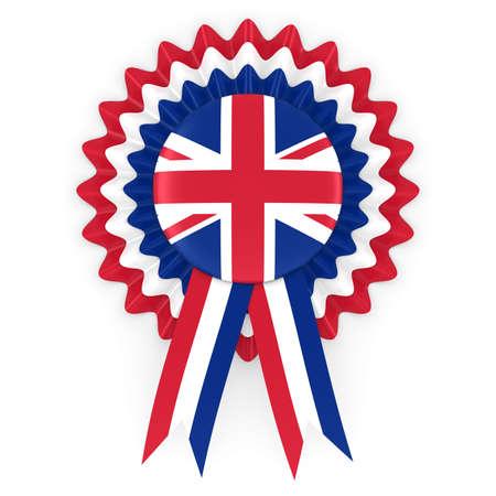united kingdom: United Kingdom Flag Badge Rosette 3D Illustration