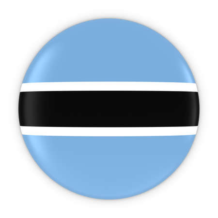 botswanan: Botswanan Flag Button - Flag of Botswana Badge 3D Illustration