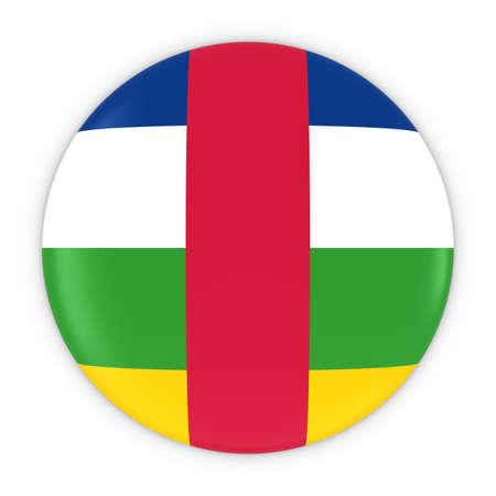 central african republic: Central African Flag Button - Flag of the Central African Republic Badge 3D Illustration