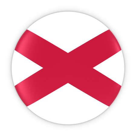 northern ireland: Northern Irish Flag Button - Flag of Northern Ireland Badge 3D Illustration