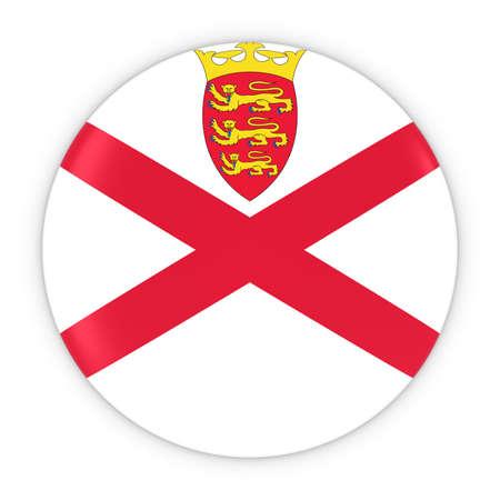 channel: Channel Islands Flag Button - Flag of Jersey Badge 3D Illustration