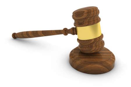judge gavel: Court of Law Judge Gavel 3D Illustration
