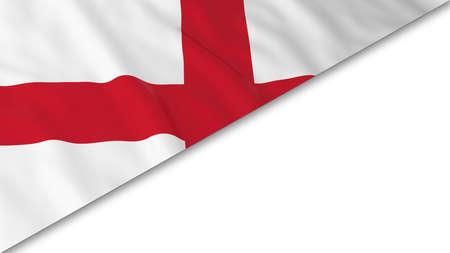 drapeau anglais: Drapeau Anglais corner superpos� sur fond blanc - Illustration 3D