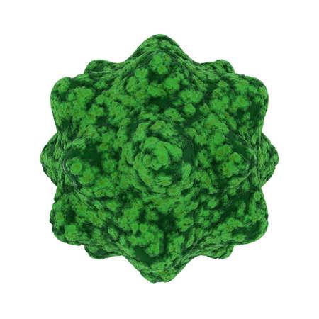 spore: Green Virus Spore Isolated on Black Background - 3D Illustration