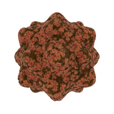 spore: Mottled Brown Virus Spore Isolated on Black Background - 3D Illustration