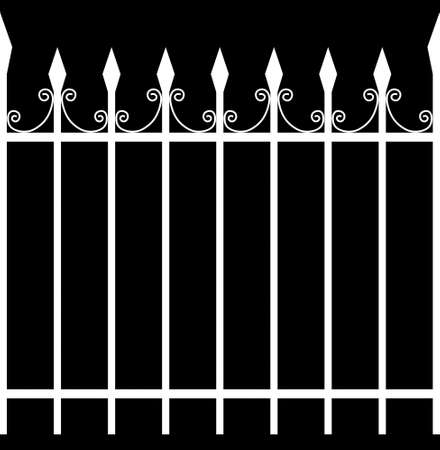 iron fence: Seamless Tileable Iron Fence Selection Mask  Alpha 3D Illustration