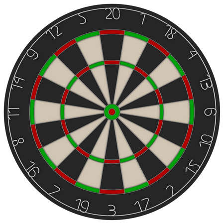 dart board: Dart Board 3D Illustration Isolated on White Background