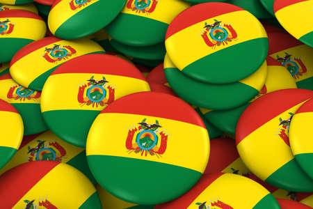 Bolivia Placas de fondo - Pila de Bolivia bandera, los botones 3D Ilustración