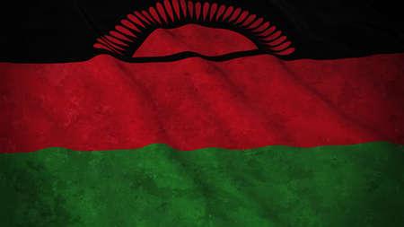 malawian flag: Grunge Flag of Malawi - Dirty Malawian Flag 3D Illustration Stock Photo